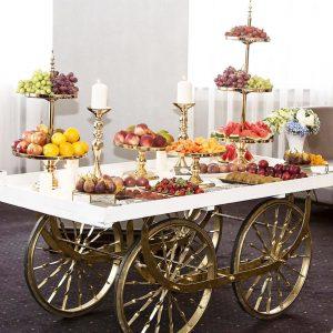 Gold & White Market Cart