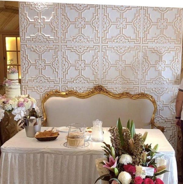 Serene Gold & White Wall 2.4m