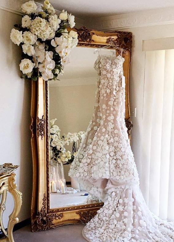 Cecilia Ornate Gold Mirror