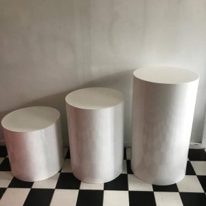Wider Plinths White Trio