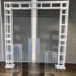 White Metal Truss Frame