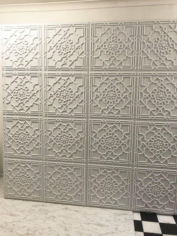 Vera White Pressed Wall 2.4m