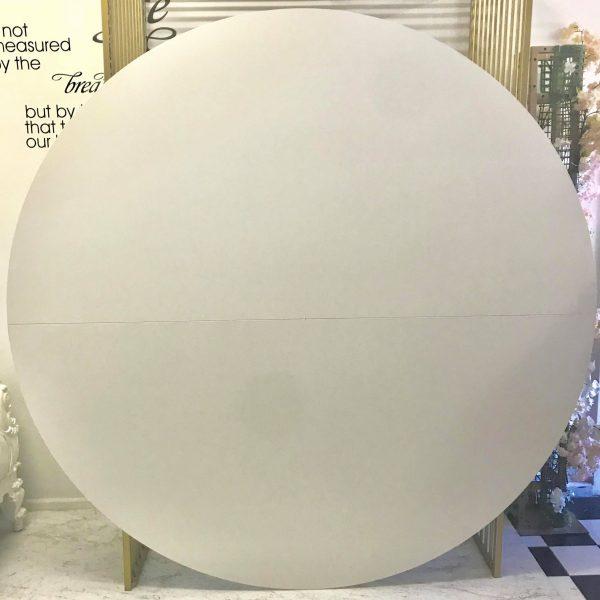 Plain White Round Backdrop 2m