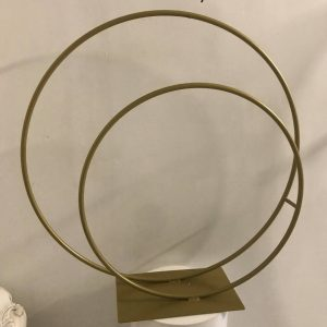 Gold Double Hoop Centrepiece