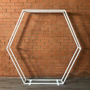 Hexagon White Arch 2m