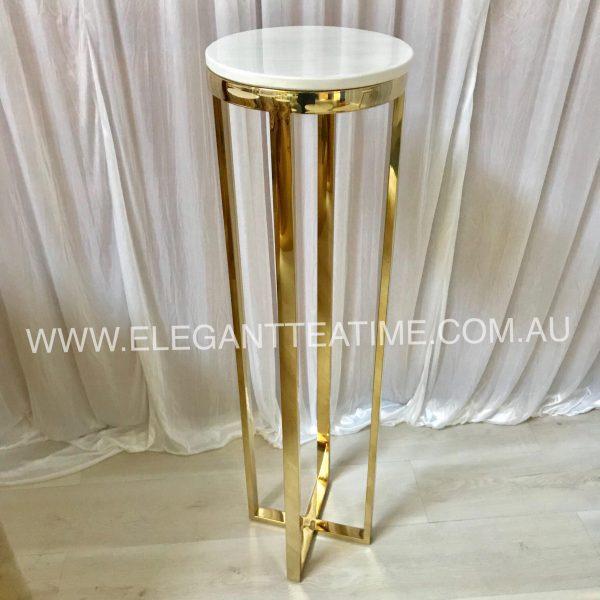 Madison Gold Marble Plinth 110cm