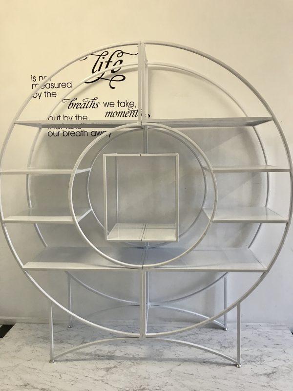 White Round Dessert Shelf