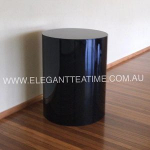 Black Round Cake Table 70x90cmH
