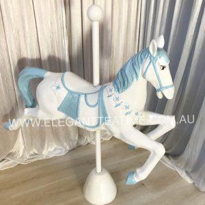 Carousel Horse Blue