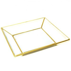 Brass Gold Square Tray